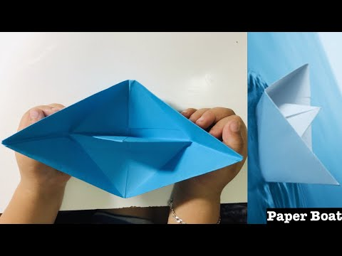 How to Make a Paper Boat - origami For Kids - DIY Origami Craft For Kids #RaYnSwOrLd