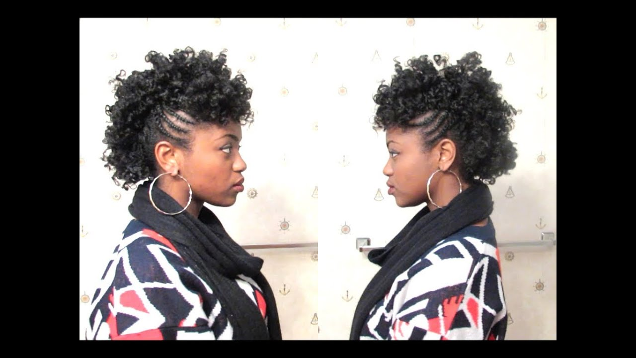 Videos Of Natural Hair Styles Captivating Curly Mohawk On 4C Natural Hair  Youtube