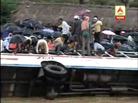 Bus plunged into a river in Bankura district