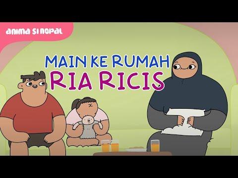 Main Ke Rumah Ria Ricis Sambil Bawa Boneka Terkutuk - Kartun Lucu