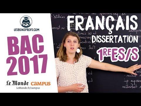 Français 1re ES/S - Corrigé de la dissertation (personnages de roman) - Les Bons Profs