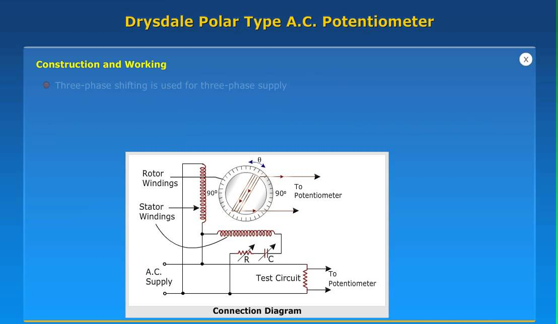 draysdale polar type ac potentiometer youtube rh youtube com