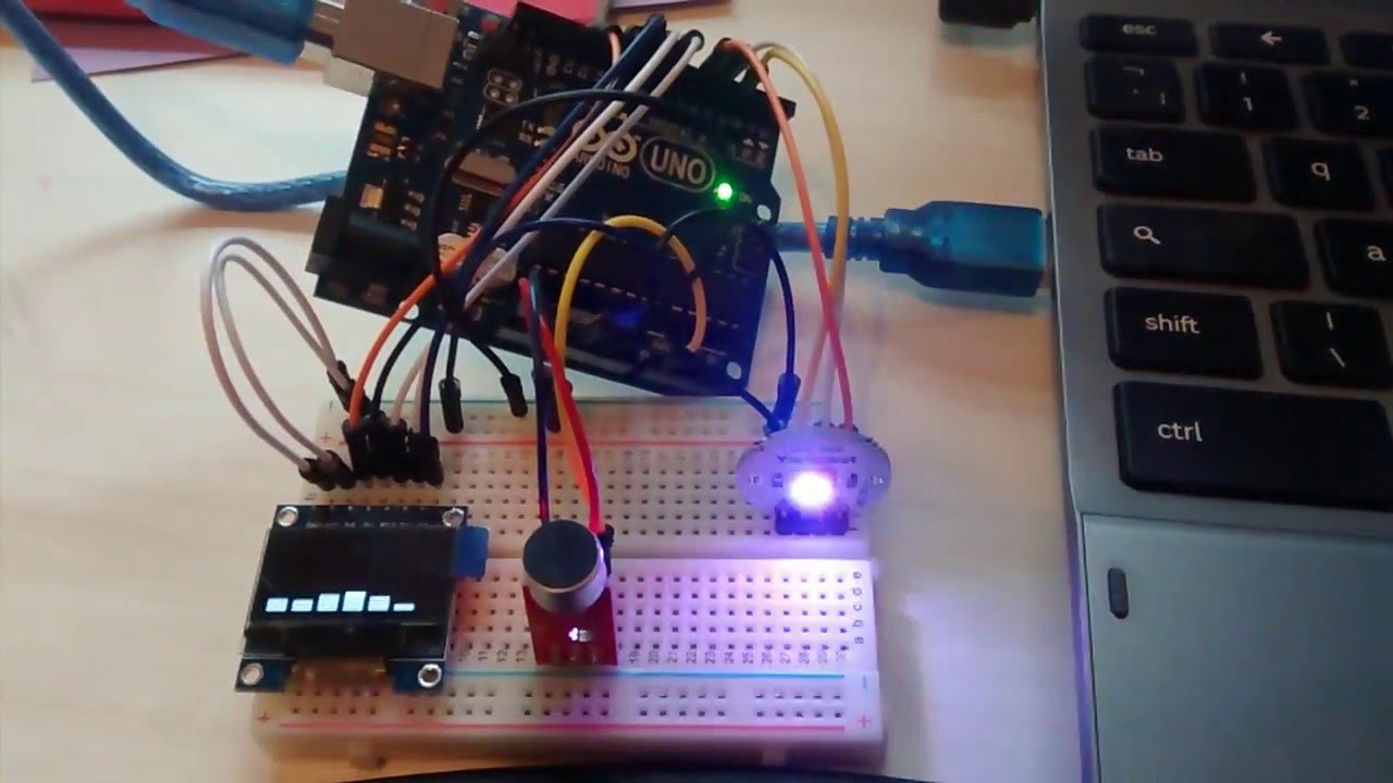 Arduino spectrum analyser and light organ – Cassiopeia Ltd