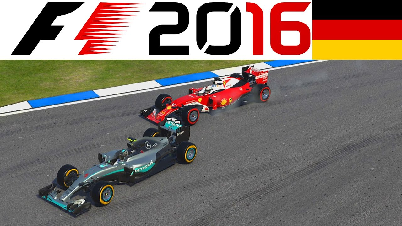 f1 2016 ps4 gameplay german 2 vettel hockenheimring. Black Bedroom Furniture Sets. Home Design Ideas