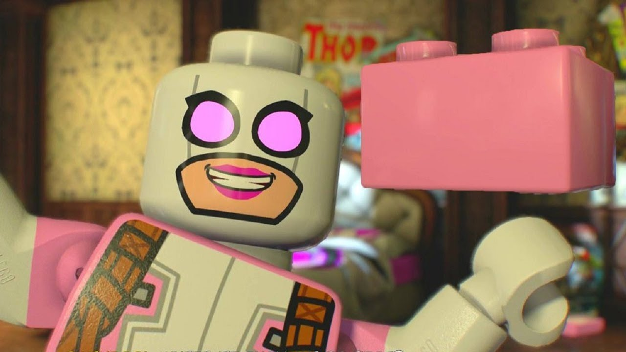 Download LEGO Marvel Super Heroes 2 - All 10 Gwenpool Pink Brick Locations (All Cheats Unlocked)