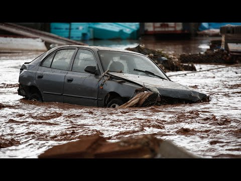 'Everything is destroyed': Greece flash floods leave at least 15 dead