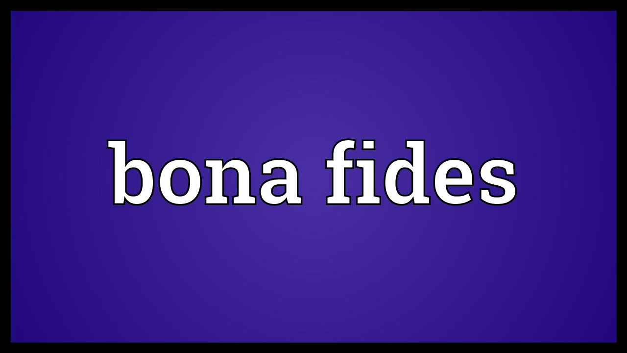 what does bona fide mean in english