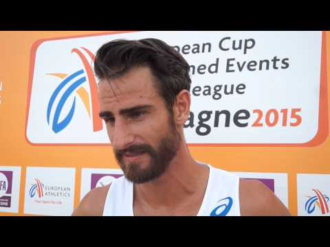Romain Barras (FRA) after day 2 EC Aubagne 2015