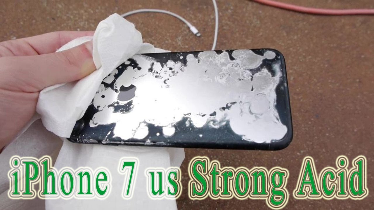 Strongest acid vs iphone