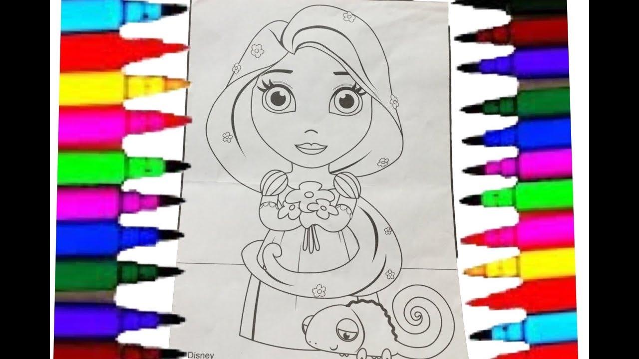 Rapunzel Disney Princess Rapunzel Coloring Pages with Sharpies ...
