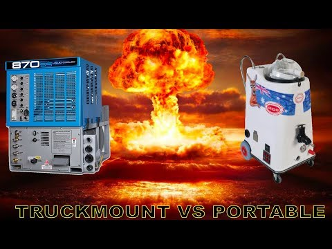 Truckmount Machines Vs Portable Carpet Cleaning Machines