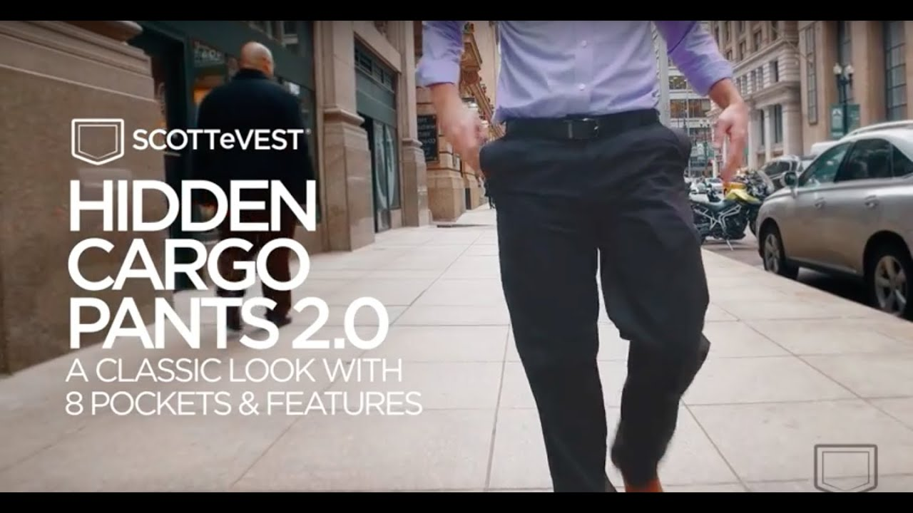 SCOTTeVEST: Hidden Cargo Pants 2.0 - YouTube