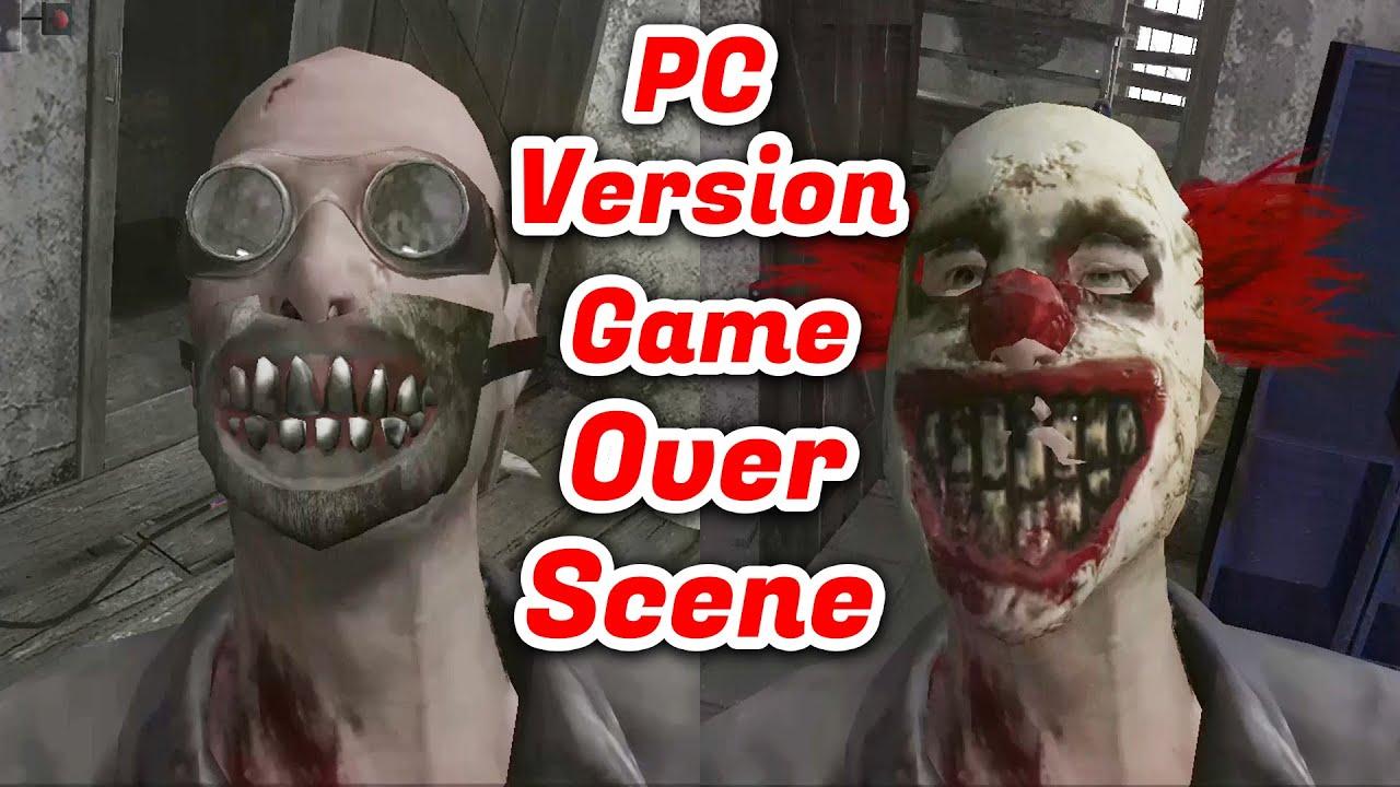 Metel Horror Escape PC Version Game Over Scene