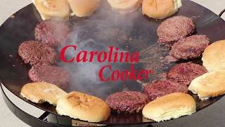 Carolina Cooker Discada Cooking Hamburgers