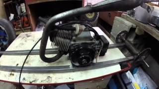 voiture rc 1/3 eme avec moteur de pocket bike