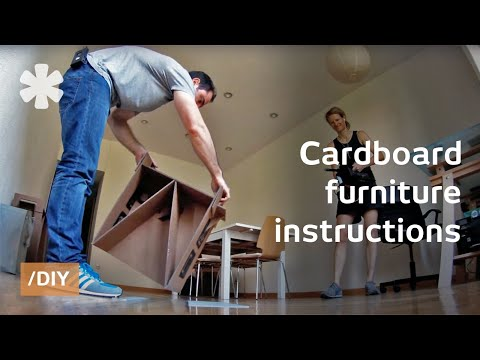 Diy Cardboard Furniture With Free Ikea-style Instructions