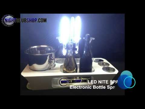 NITESPARX   LED BOTTLE SPARKLER   LED NITESPARX   NIGHTCLUBSHOP VID