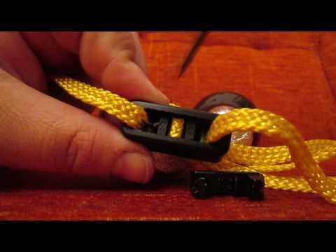 Textile disposable handcuffs ESP type HT-01,  opening without damage (re-use), mechanism dissect