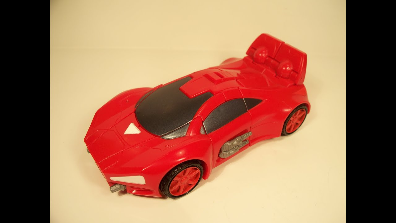 TRANSFORMERS MARVEL CROSSOVERS IRON MAN SPORTS CAR ACTION FIGURE TOY REVIEW