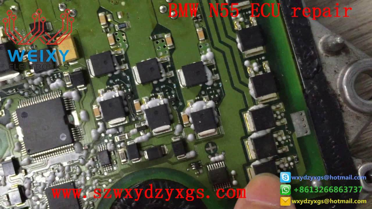 small resolution of how to repair the bmw n55 dme ecu electronic valve failure bsd fault no communication failure youtube