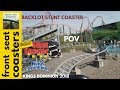 Backlot Stunt Coaster POV 60fps Kings Dominion 2018 Roller Coaster On-Ride Front Seat