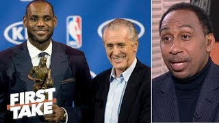 Pat Riley to the Lakers rumors are picking up steam – Stephen A. | First Take thumbnail