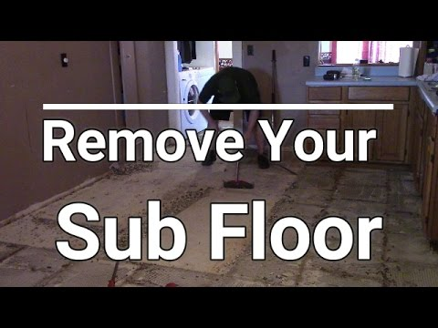 Character Building Part 1, How to remove a sub floor