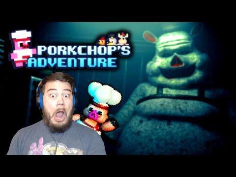 FINDING PORKCHOP † S SECRETS! | Porkchop † s Adventure (FNAF Fan Game) #3
