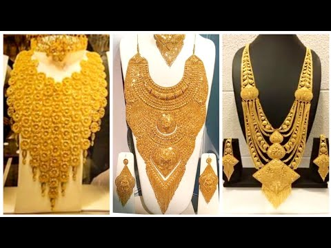 Heavy And Expensive Gold Necklace Designs For Royal Brides And Party - Dubai Gold Designs
