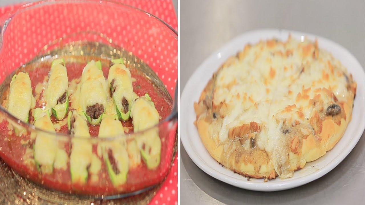 كوسة بالصلصة الحمراء و البشاميل - بيتزا الفريدو بالدجاج : زعفران وفانيلا حلقة كاملة