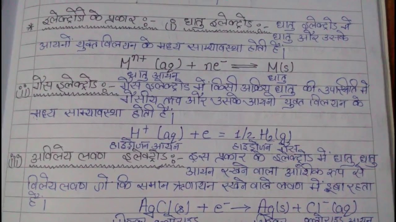 Class 12th U P  board -Electro chemistry part 2 (Notes)