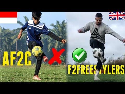 AKHIRNYA TERJADI 🔥 2 Youtuber Sepakbola Terbesar Di Negaranya!! BENY AF2C Vs JEZZA F2Freestylers!!