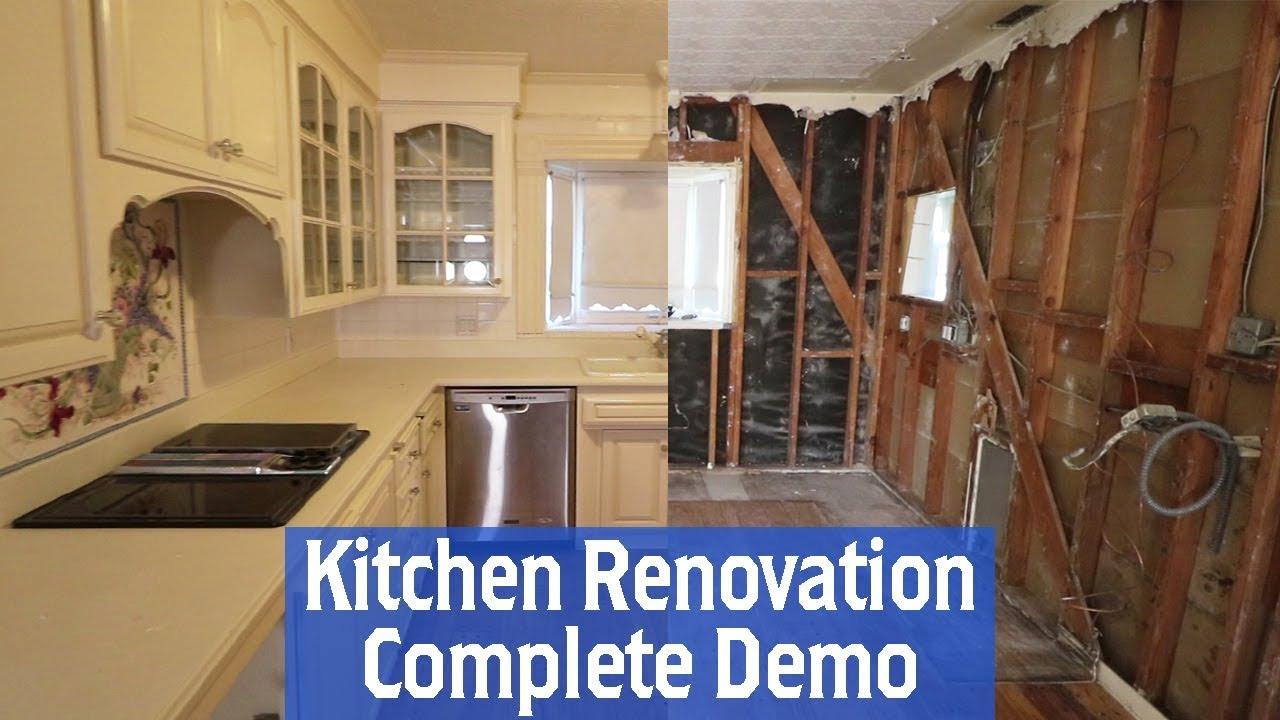 Building A New Kitchen Part 1 Complete Kitchen Demo