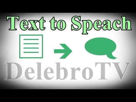 TEXT TO SPEECH (vorlesen :D) - Tutorial [German/Full-HD]