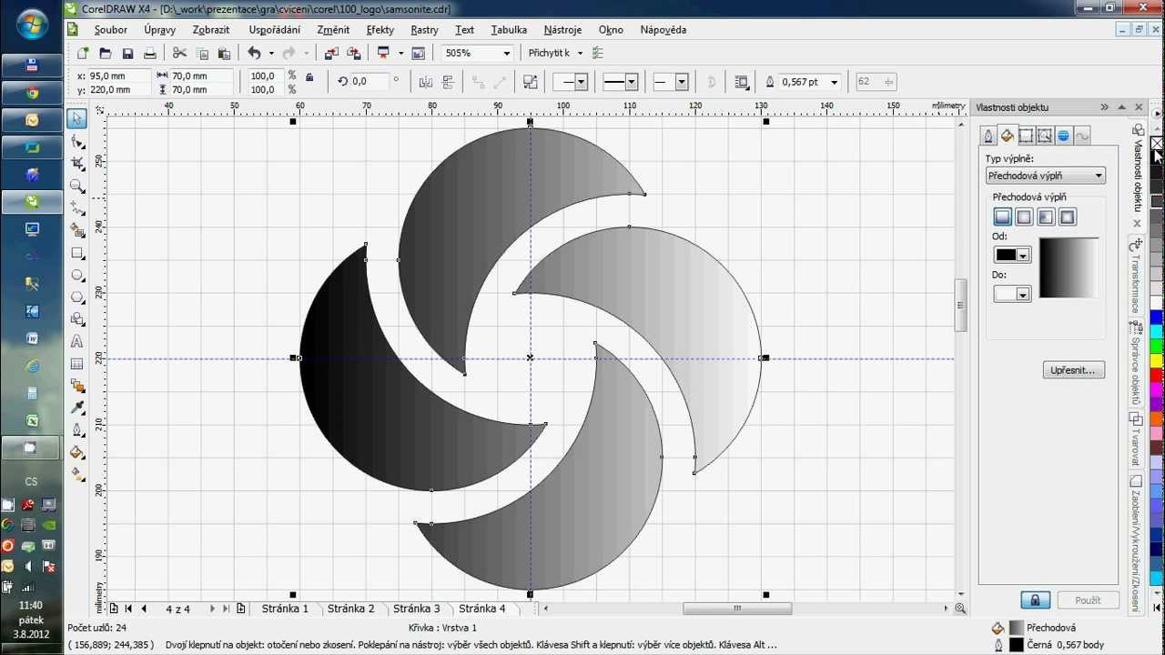 How to draw Logo Samsonite with Corel Draw X4 - YouTube