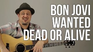 """How To Play The Intro to Bon Jovi """"Wanted Dead or Alive"""" Guitar Lesson"""