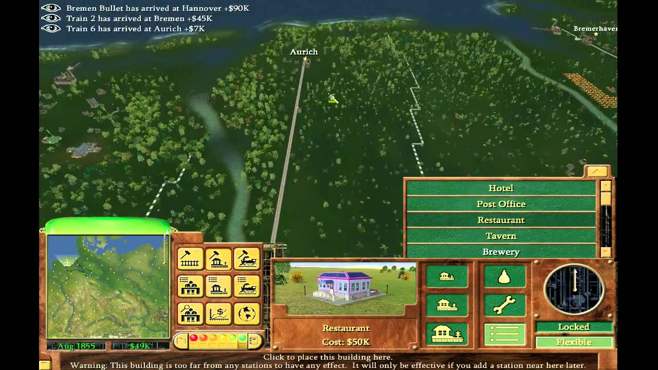 Railroad Tycoon  How To Remove A Buildings