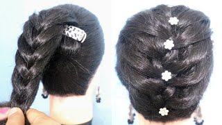 Very easy hairstyle with using banana clutcher | braided hairstyle | new hairstyle | easy hairstyles