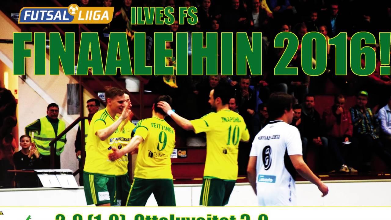 Ilves FS - SoVo 2-0 (1-0) Futsal-Liiga 3. välierä 14.4.2016 päätykameran maalit - YouTube