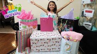 Birthday Morning Opening Presents! Heidi 7th Birthday!