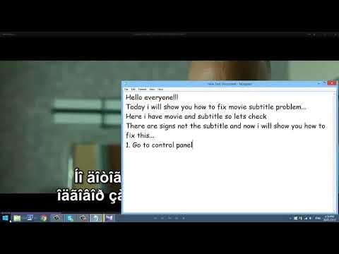 How to fix subtitle problem