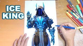 FORTNITE Drawing THE ICE KING - How to Draw MAX TIER ICE KING | Step-by-Step Tutorial - Fortnite