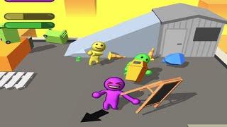 Peleas divertidas - What the fight. Gameplay #2. Juego de pelea de muñecos en 3d.