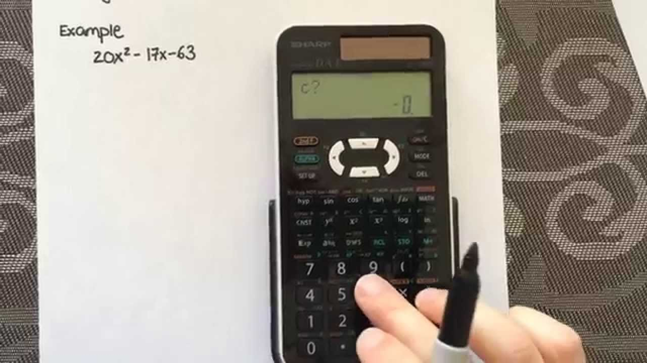 Factoring Quadratic equations using a calculator (Sharp EL-520X)