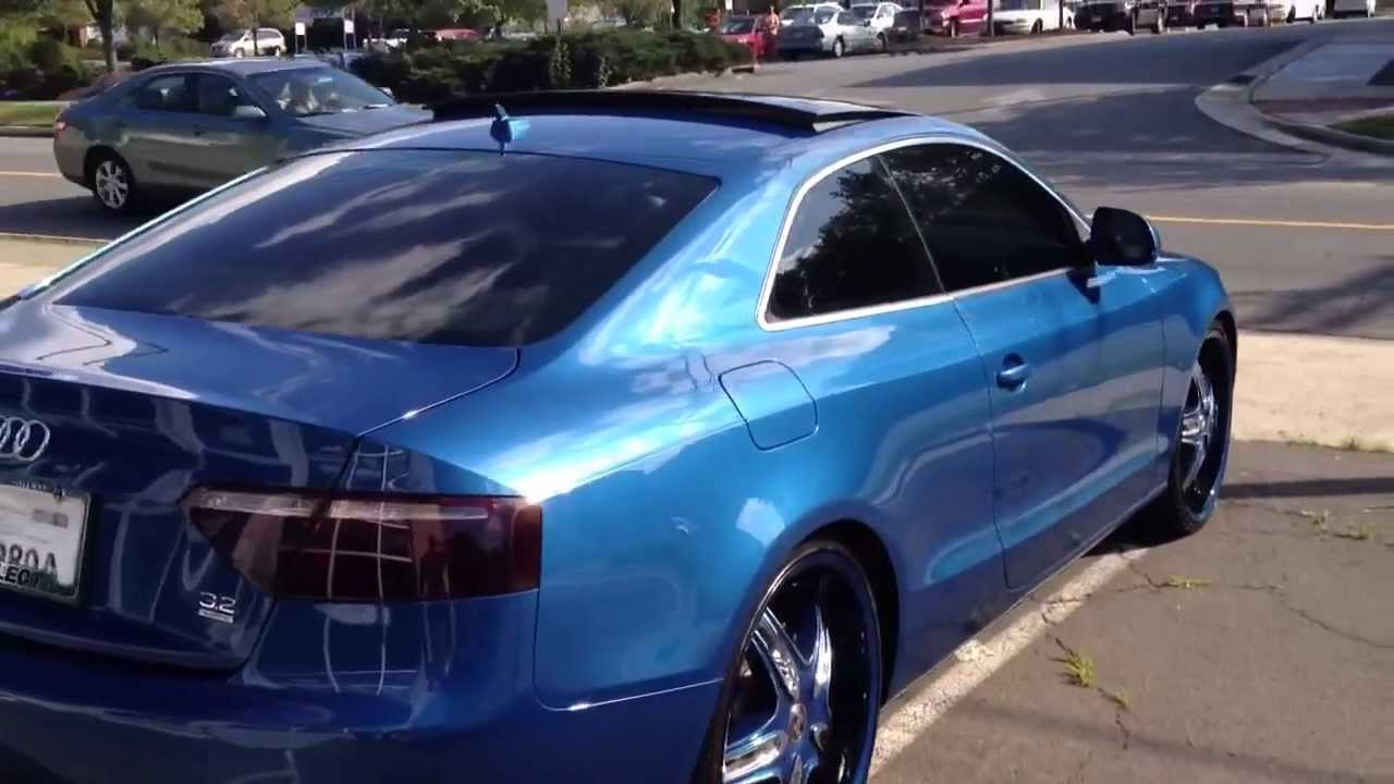 Audi A5 Blue Youtube