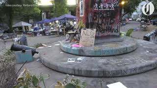 Aftermath of 63rd night of Portland protests