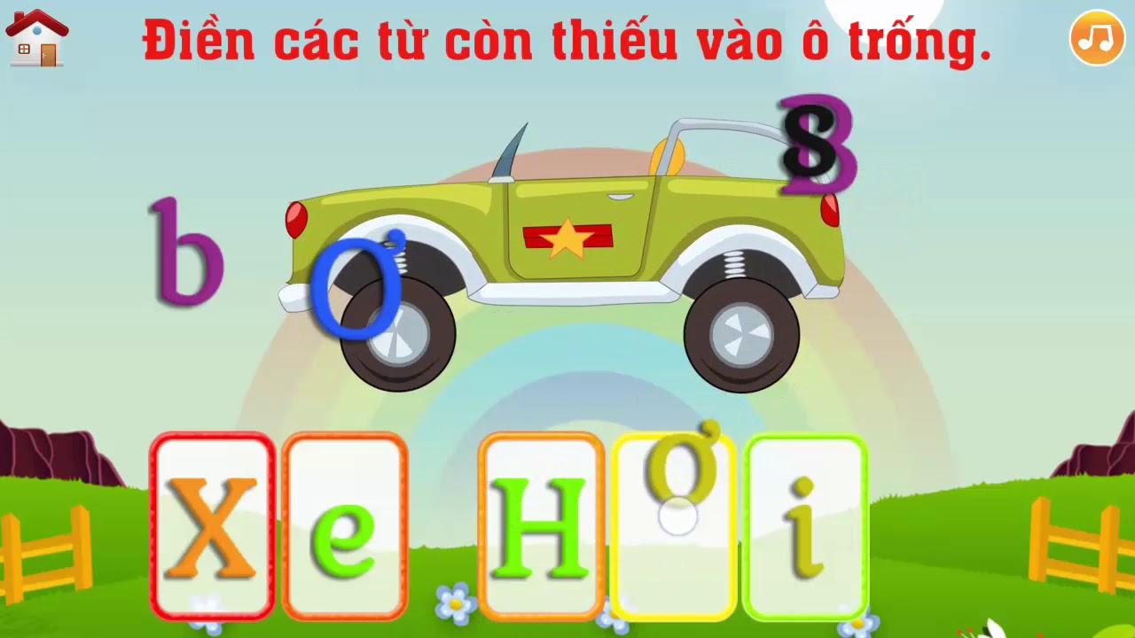 Phần 2. Điền các từ còn thiếu vào ô trống || Ghép vần Tiếng Việt