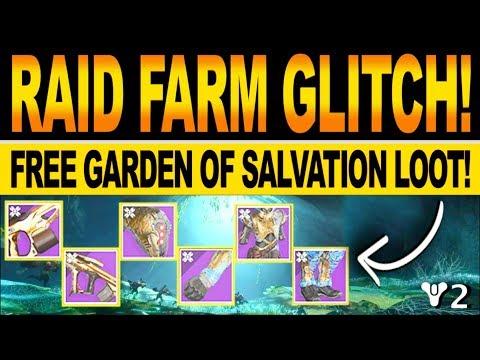 Destiny 2   NEW RAID FARM GLITCH! How To Get FREE Garden Of Salvation Loot & Boss Cheese(SHADOWKEEP)