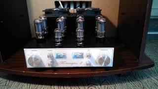 Ламповый стерео усилитель на 6п3с по 4 шт. на канал