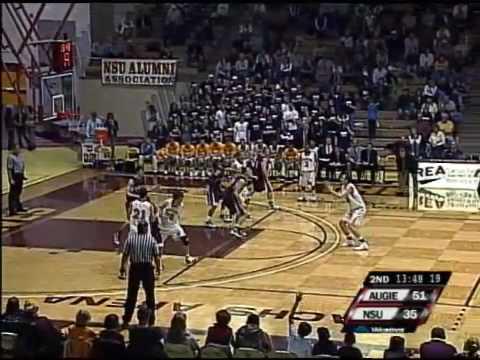 NCAA Division II Basketball -  Augustana v NSU Highlights (February 20, 2010)